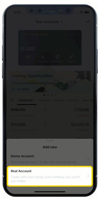 Exnessで外国為替を登録して取引する方法