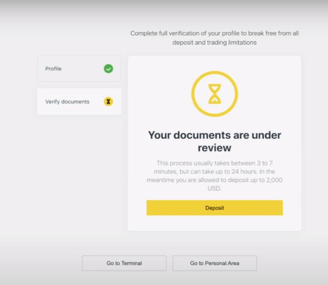 Exnessでアカウントを登録および確認する方法
