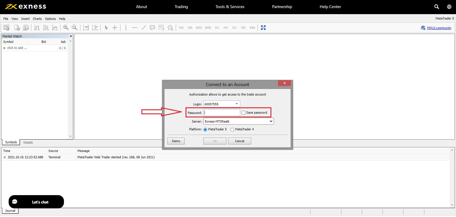 Exnessでアカウントにサインアップしてログインする方法